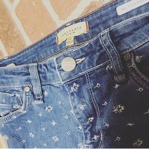 """Sanctuary """"The Charmer""""  27 embroidered jeans"""